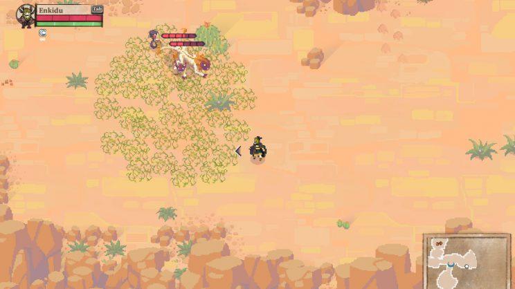 Meine Schlange attackiert Löwen, die durch mein Ranken verlangsamt wurden – Teamplay gewinnt.