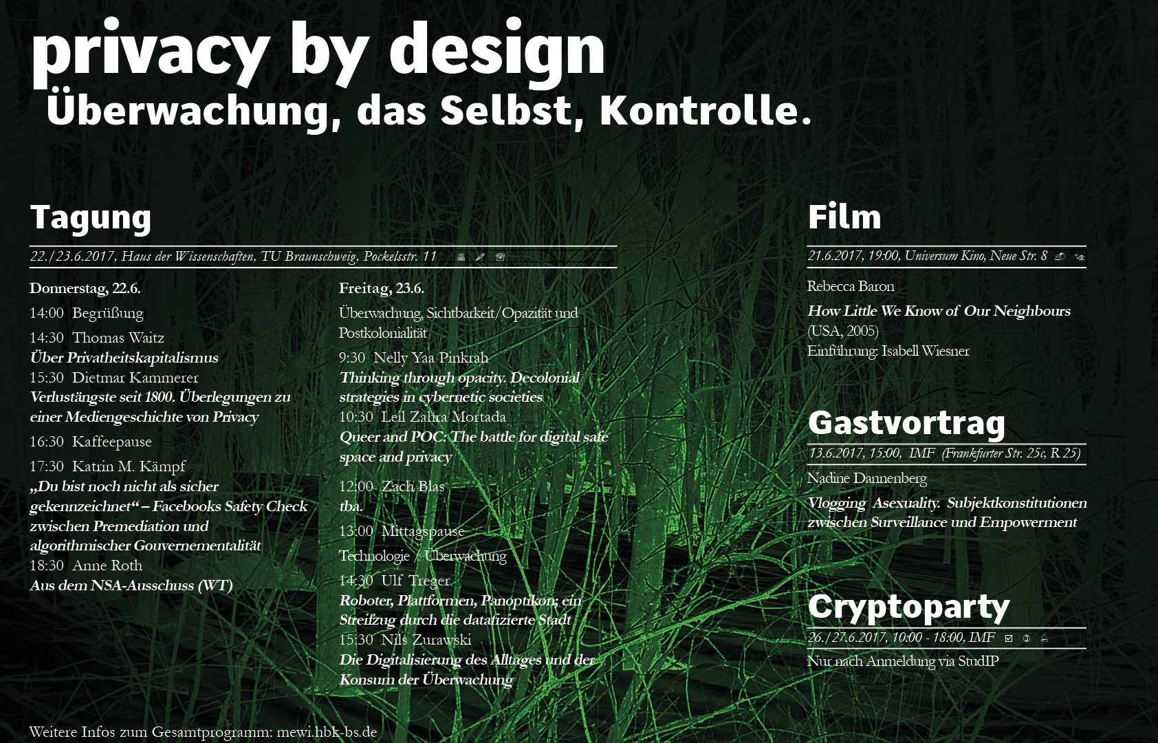 Privacy by design. Überwachung – Selbst – Kontrolle